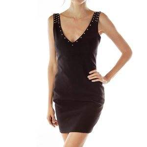 NWOT Zara black studded cocktail dress size small